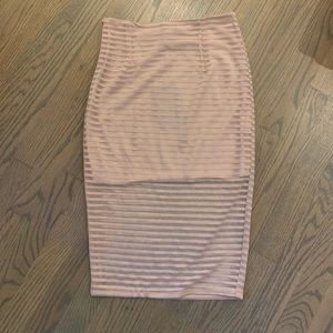Missguided nude pencil skirt